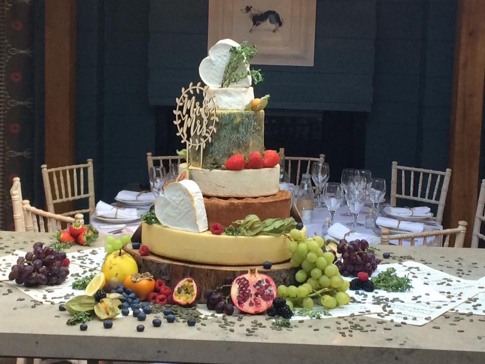 Wedding Cheese Cakes from the Churchmouse at Barbon